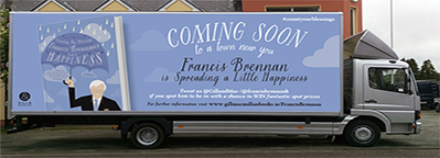 Francis Brennan Is Taking To The Road In His 'Happiness Tour Truck'