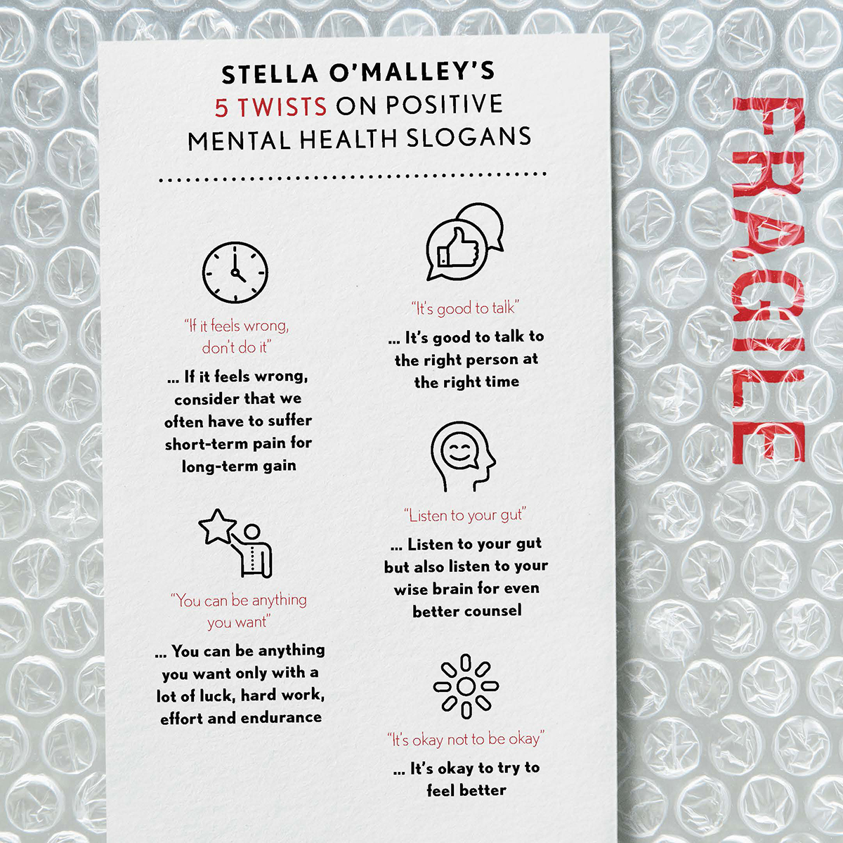 Stella O'Malley's 5 twists on positive mental health slogans