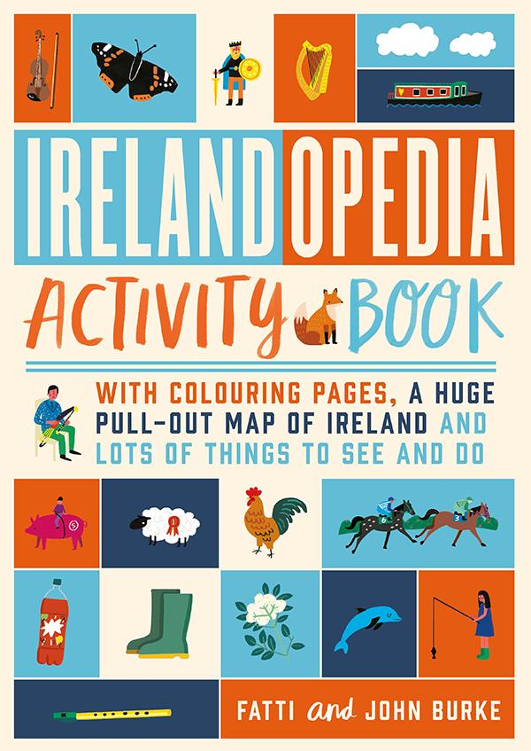 Map Of Ireland Book.Irelandopedia Activity Book